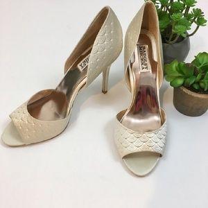 Badgley Mischka Pressed Scallop D'Orsay Heels